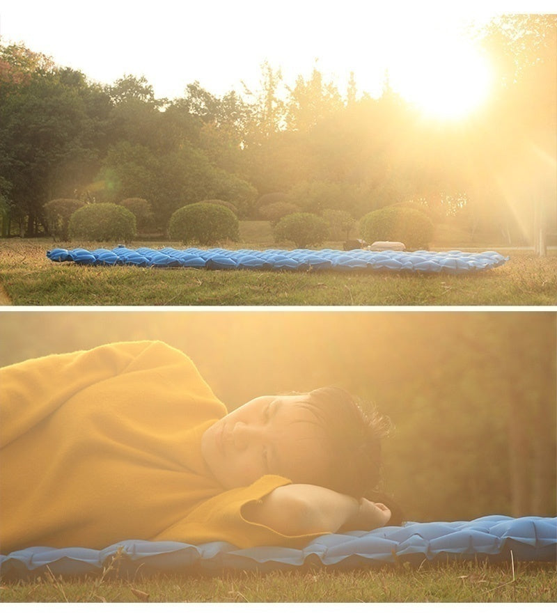 Ultra light outdoor inflatable cushion sleeping bag pad moistureproof