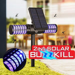 2-in-1 Solar Powered Waterproof Outdoor UV Mosquito Fly Bug Insect Zapper Killer