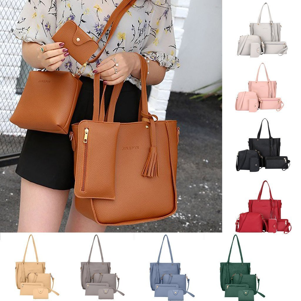 4Pcs Fashion Female Purse and Handbag Set