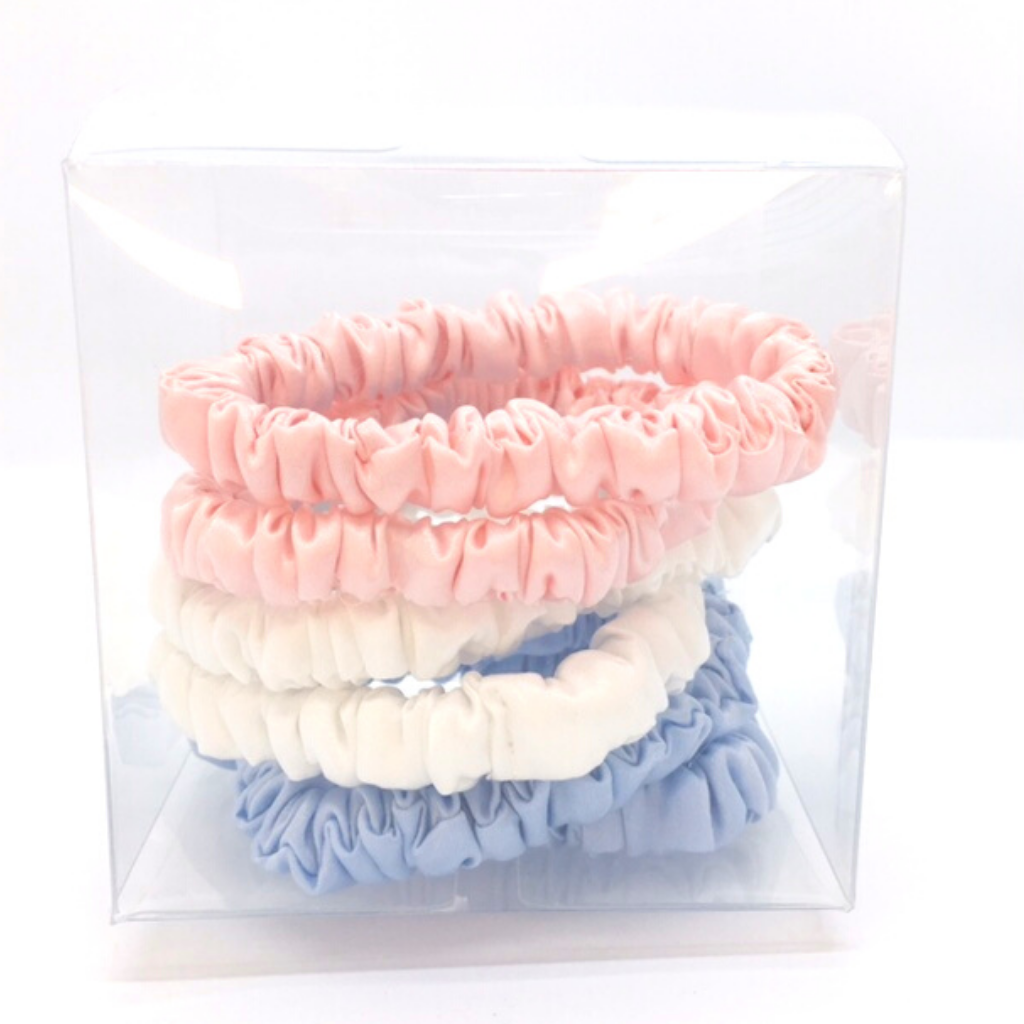 Pure silk scrunchie mini