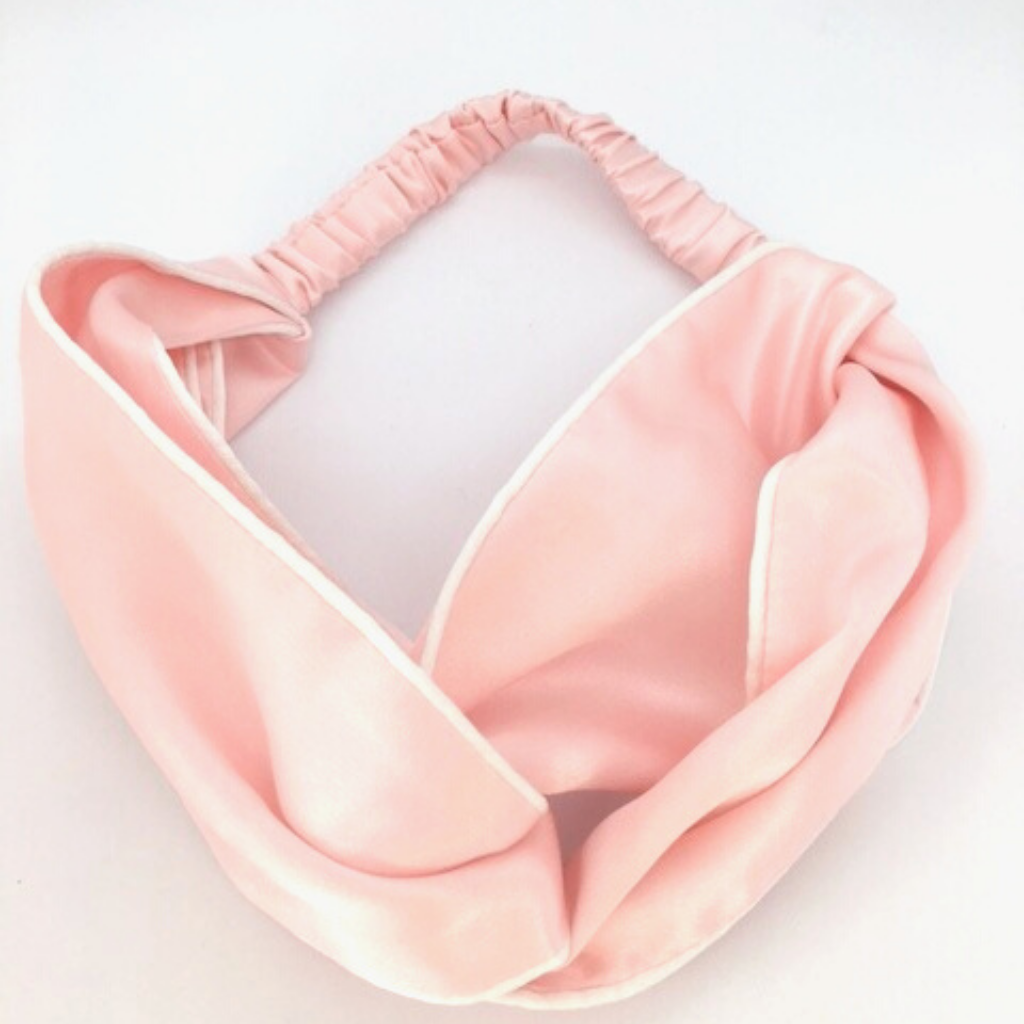Pure Silk Headband - Pink