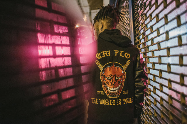 Chi Flo X Paulo Salud Chi Chi's Revenge The World is Yours Varsity Bomber Jacket Cali G Season