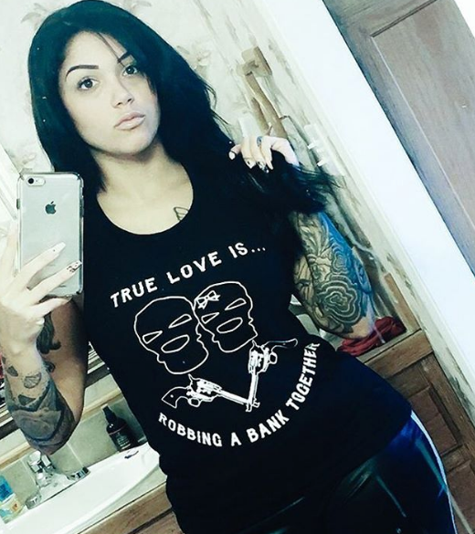 Chi Flo Army  true love is robbing a bank together chi flo unisex