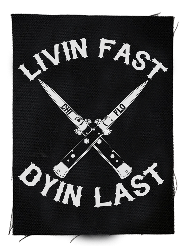 Livin' Fast Backpatch - Chi Flo