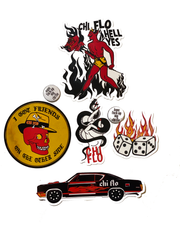 Devil in Vegas Premium Sticker + Pin Pack - Chi Flo