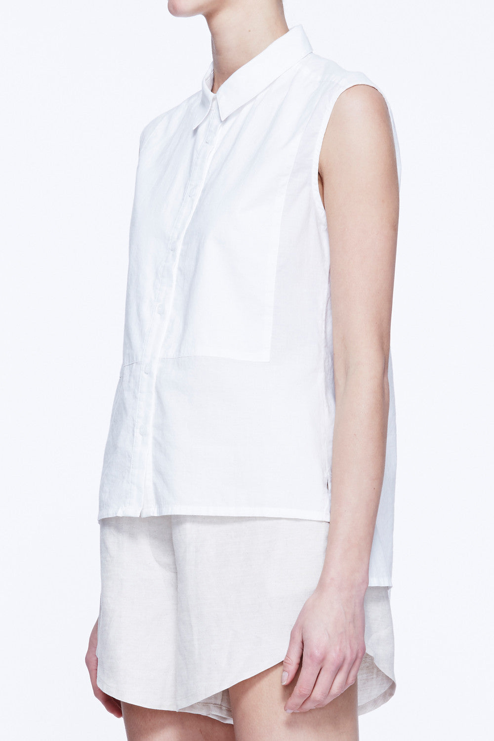 Sleeveless Bib Shirt