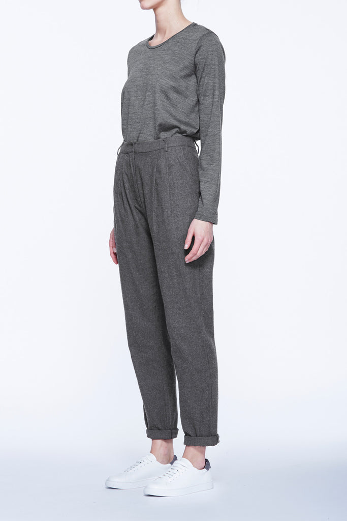 Twin Pleat Flannel Trouser