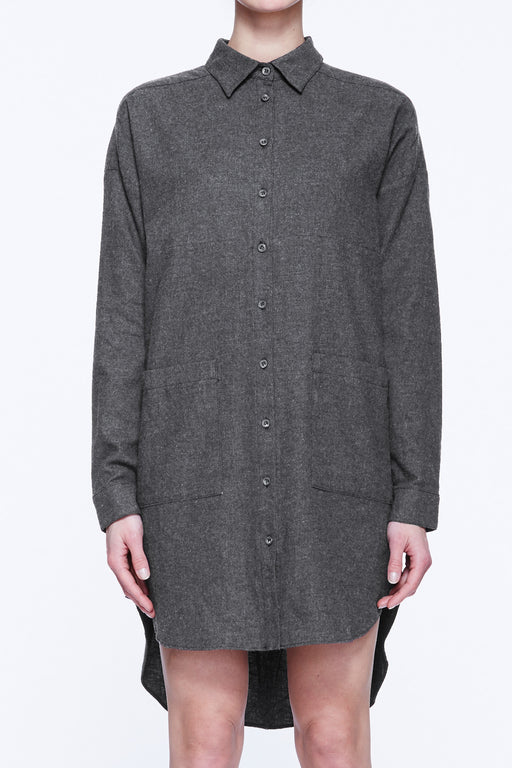 Bib Front Shirt Dress