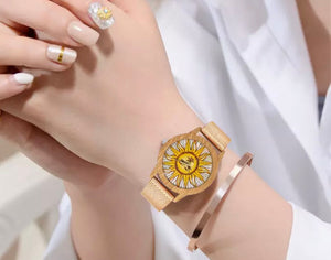 Sunflower Mirror Silicone Strap