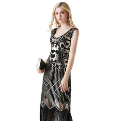 Calf-Length 1920s Dress with Tassels