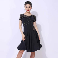 A-Line Crew Neck Short Sleeve Dress