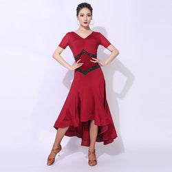 A-Line Long Patchwork Ballroom Dress