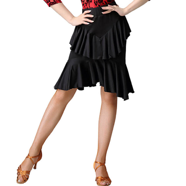 A-Line Latin Skirt with Ruffles