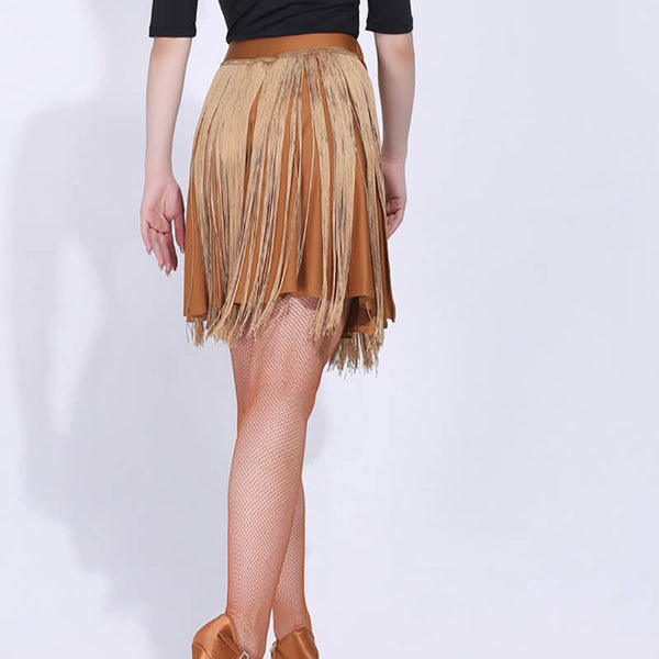 A-Line Latin Skirt with Tassels