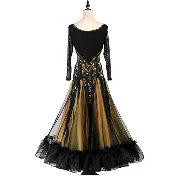 A-Line Long Ballroom Dress with Beading