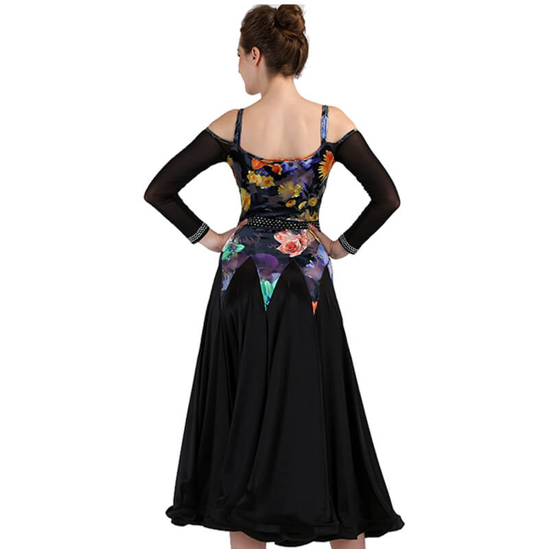 A-Line Maxi Ballroom Dress with Embroidery