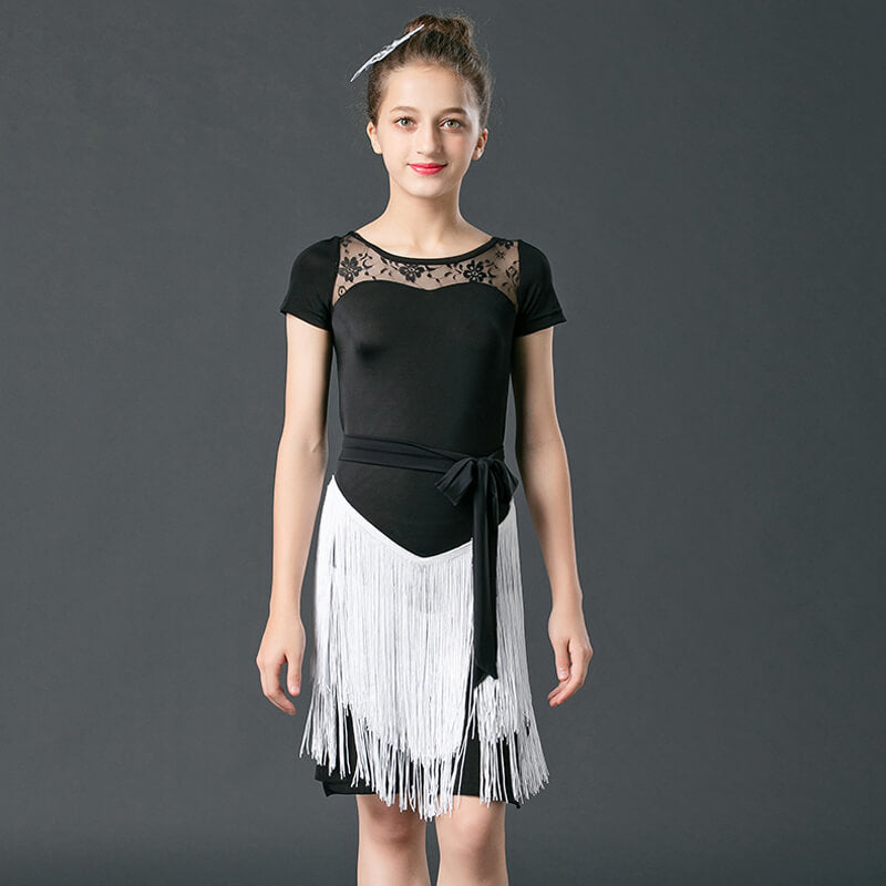 A-Line Short Latin Dress with Tassels
