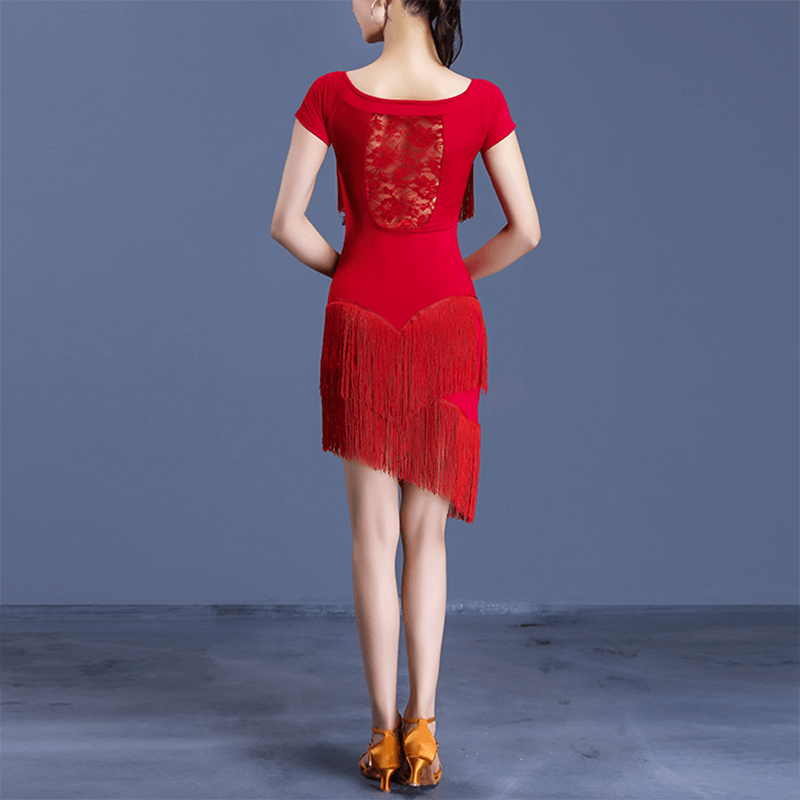 Asymmetric Short Stylish Patchwork Latin Dress