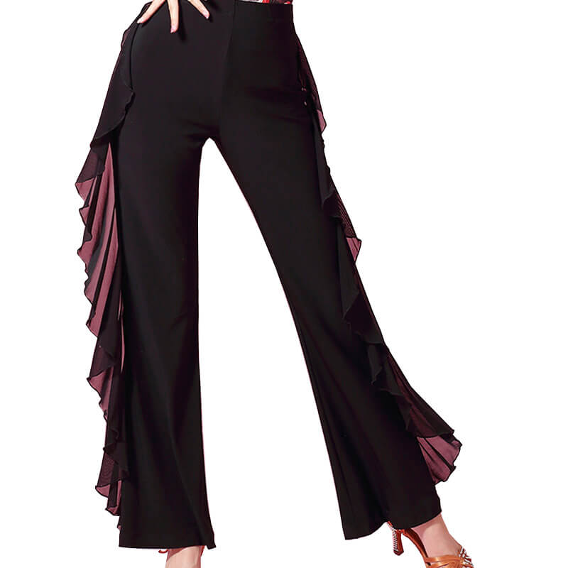 Bell Bottoms Black Latin/Ballroom Pants