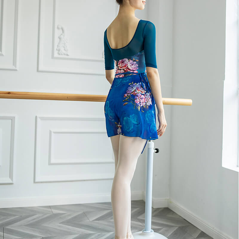 Crew Neck Half Sleeve Ballet Leotard