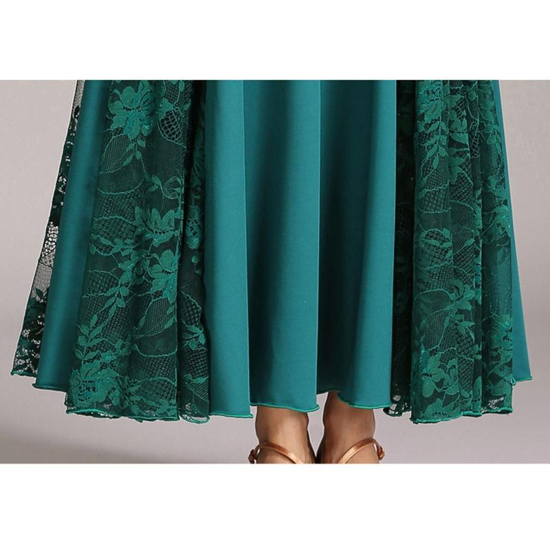 Emerald lace ballroom dress bottom