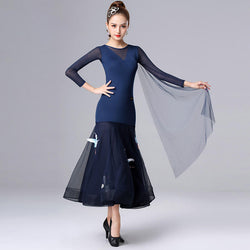 Flared Bird Embroidery Romantic Ballroom Dress