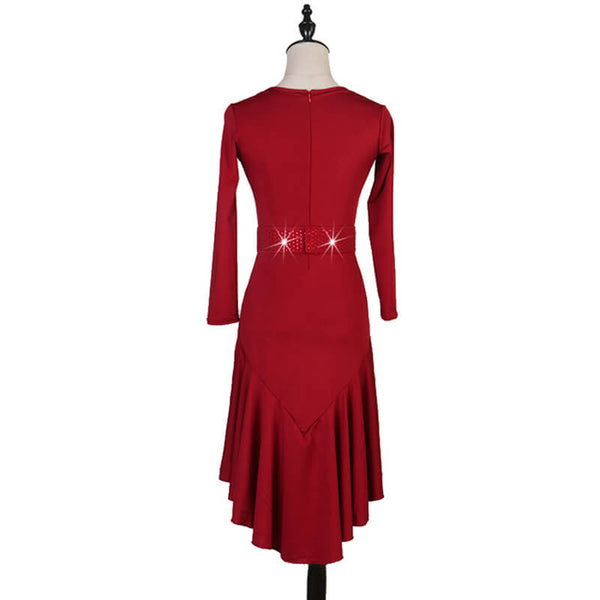 Flared Calf-Length Latin Dress