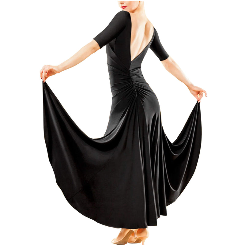 Flared Long Glamorous Ballroom Dress