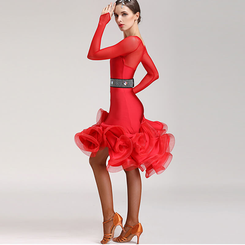 Flared Knee-Length Latin Dress