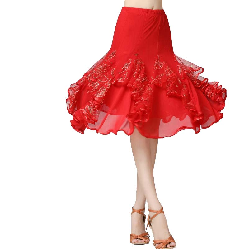 Floral Swing Ballroom Dance Skirt
