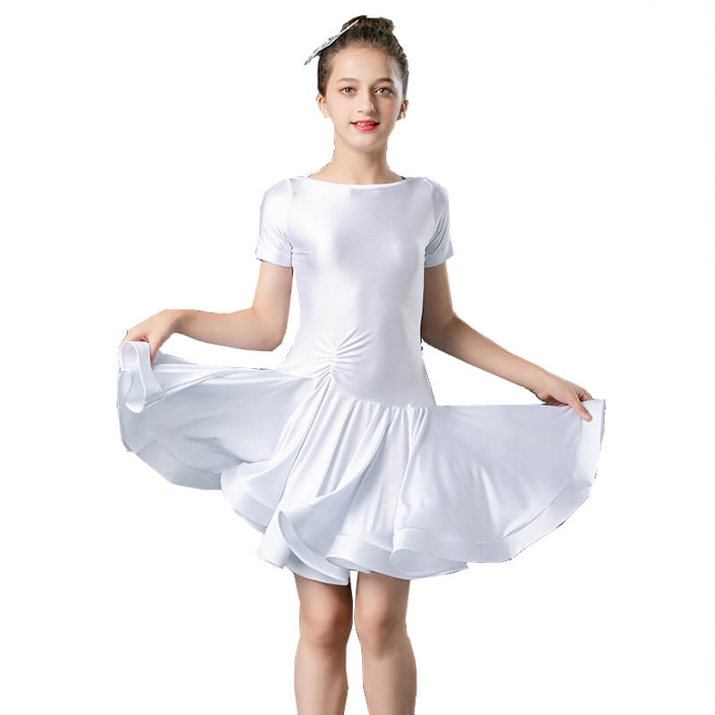 Girls Short Sleeve A-Line Short Dress