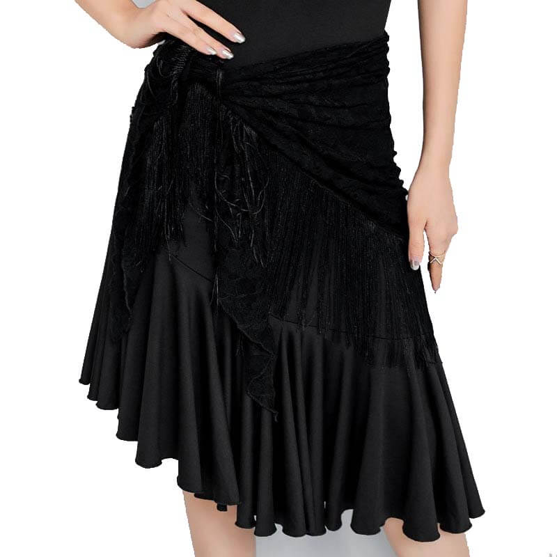 Lace Ruffle Latin Dance Dress