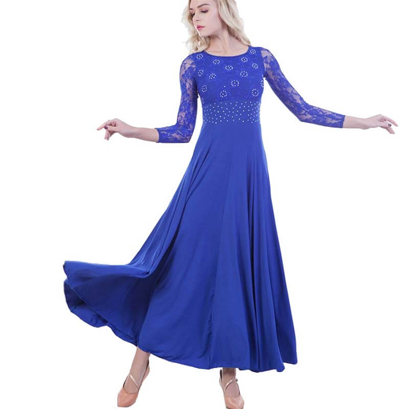 Lace Swing Ballroom Dance Dress