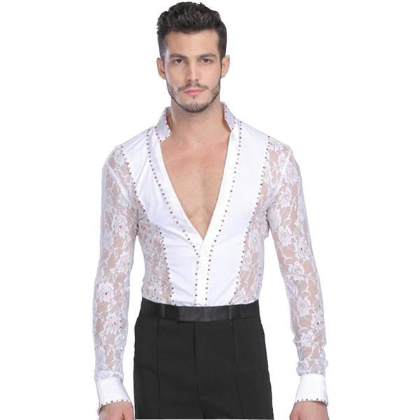 Men dance shirt-white