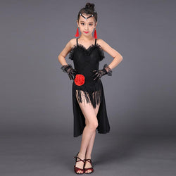 Girls Tassel Latin Dance Dresses 3