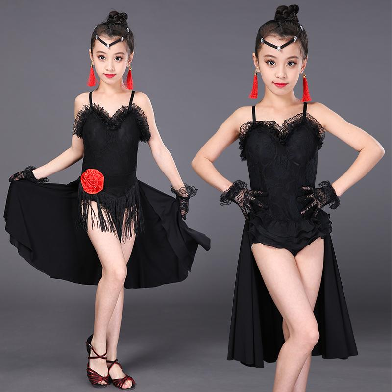 Girls Tassel Latin Dance Dresses 2