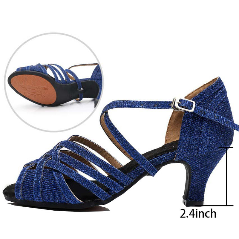Open Toe Buckle Fastening Latin Shoes