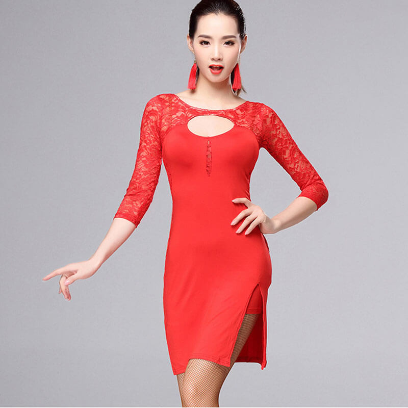 Pencil Knee-Length Latin Dress with Lace