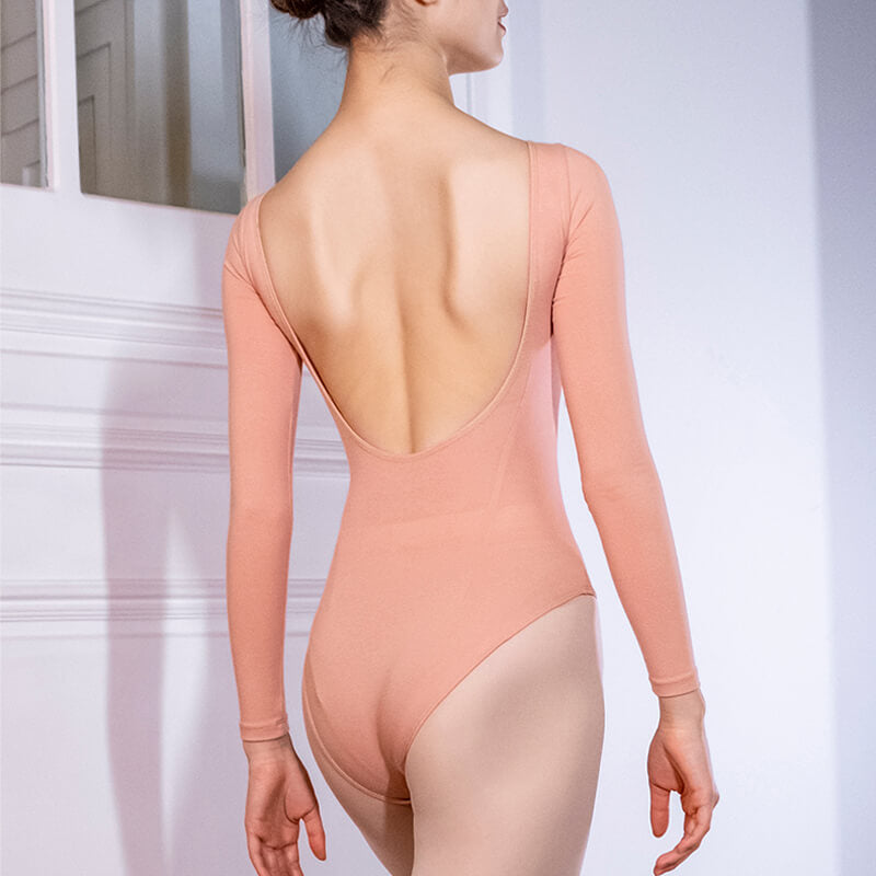Round Neck Long Sleeve Ballet Leotard