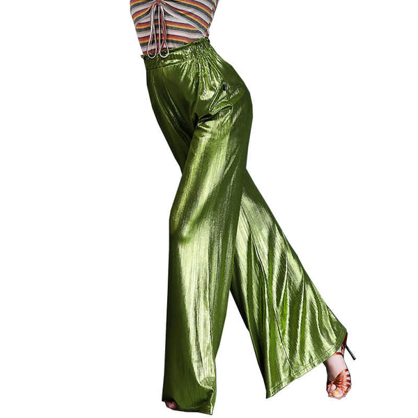 Solid Color Bell Bottoms Latin/Ballroom Pants