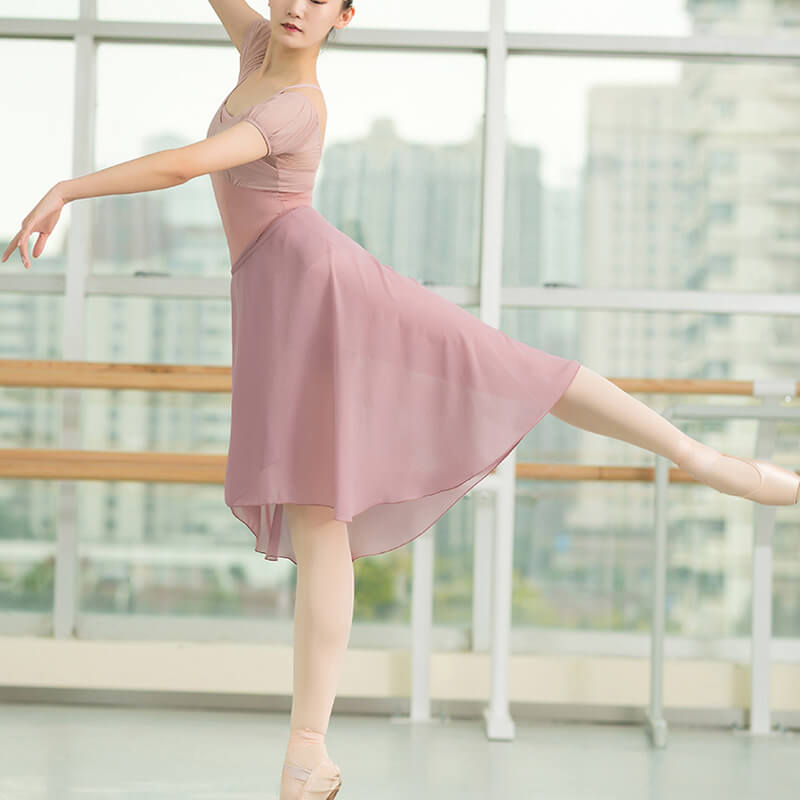 Square Neck Short Sleeve Ballet Leotard