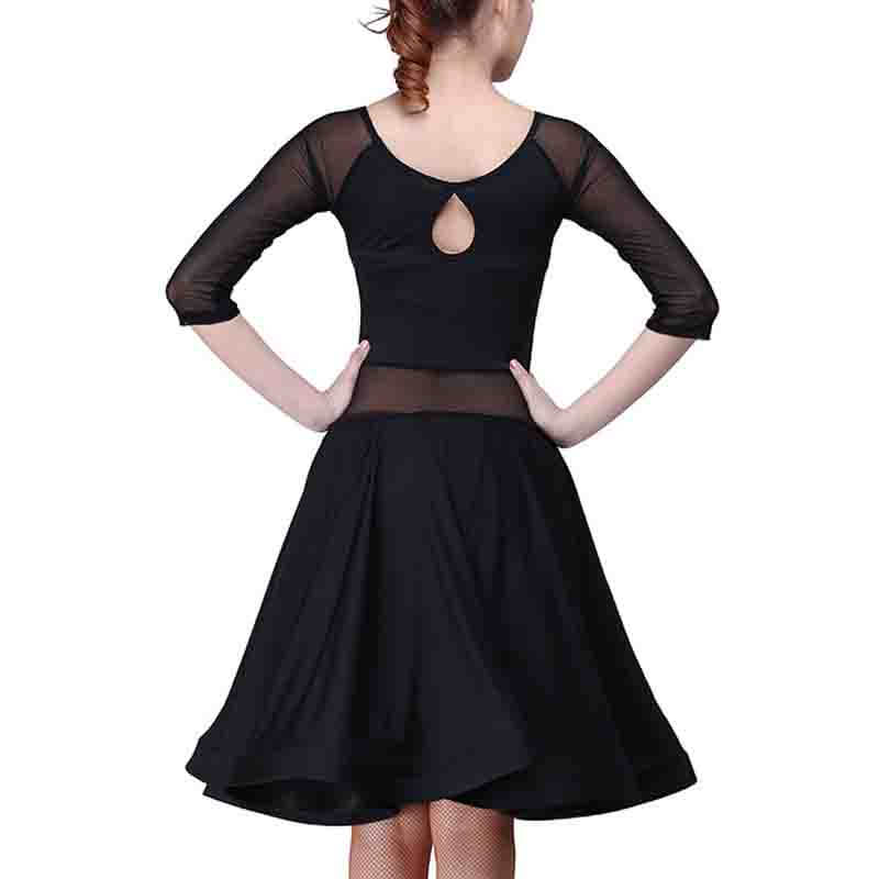 Swing Black Latin Dance Dress