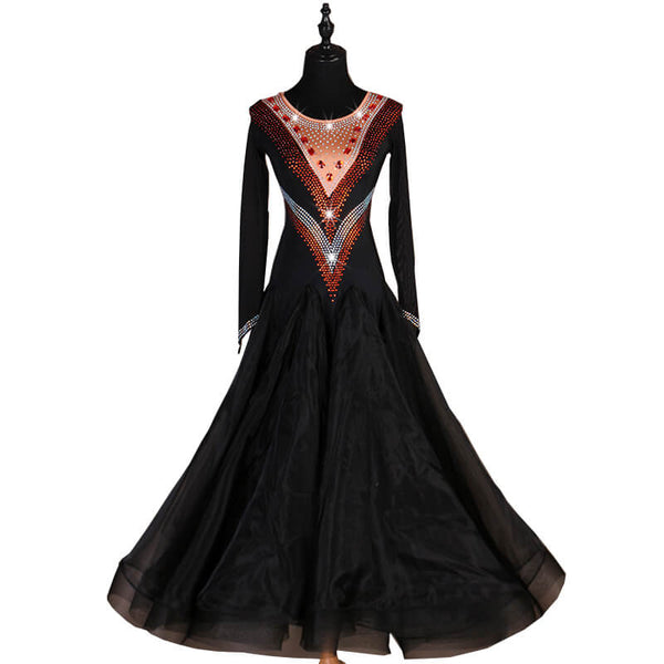 Swing Long Ballroom Dress with Beading