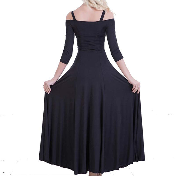 Swing Practice Ballroom Dance Dress-Black2