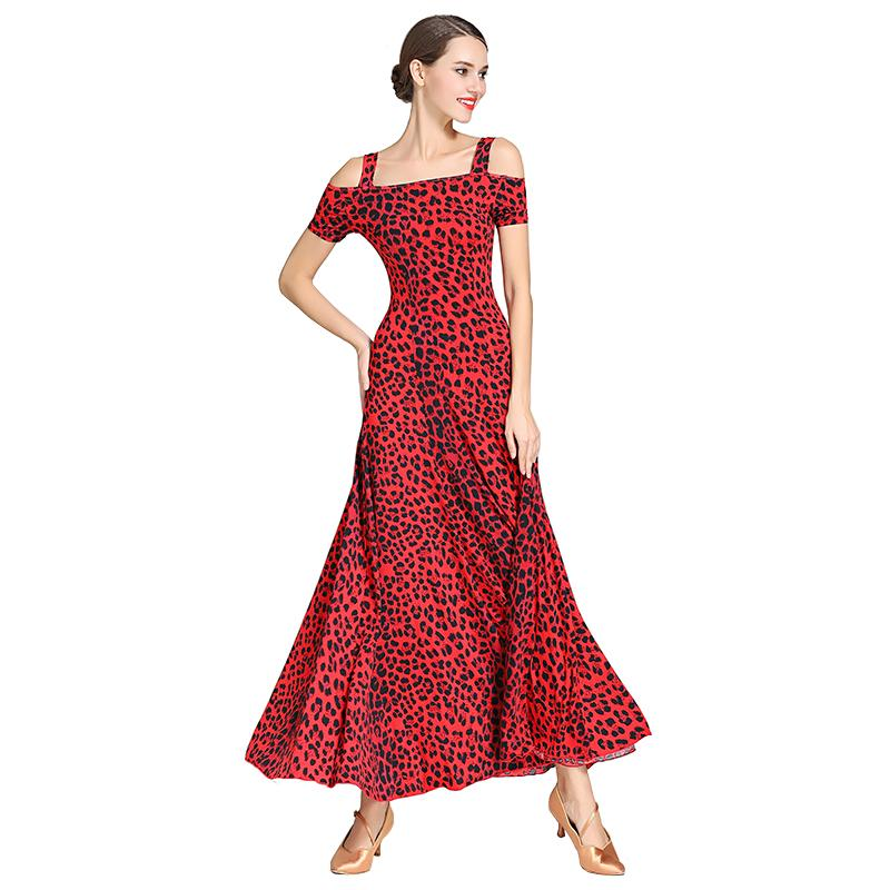 Slip Calf-Length Ballroom Dress-Red