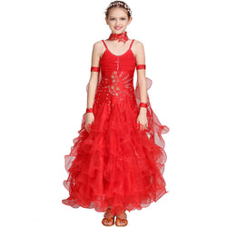 Princess Long Ballroom Dress with Rhinestones