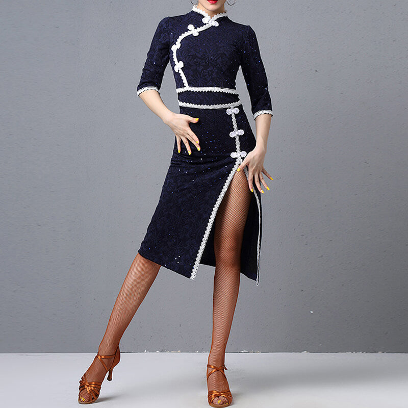 Tailored Knee-Length Latin Dress