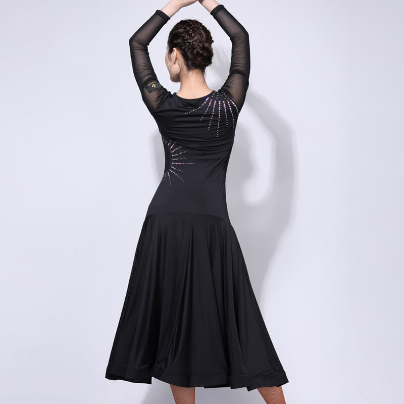V Neck Asymmetric Knee-Length Dress