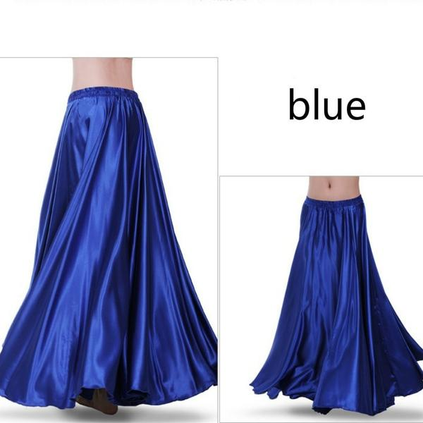 Blue Women Contemporary Dance Skirt