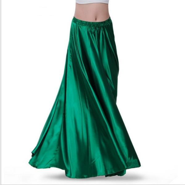 Green Women Contemporary Dance Skirt